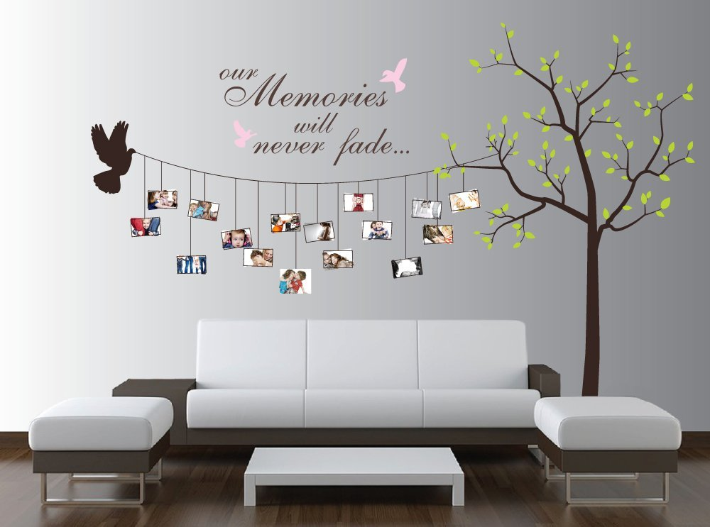 Beautiful family tree wall decal ideas home designing - Wall decor murals ...