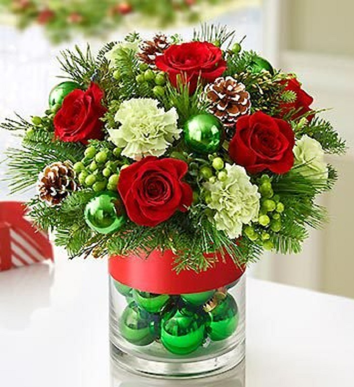 Christmas flowers gift decor ideas home designing