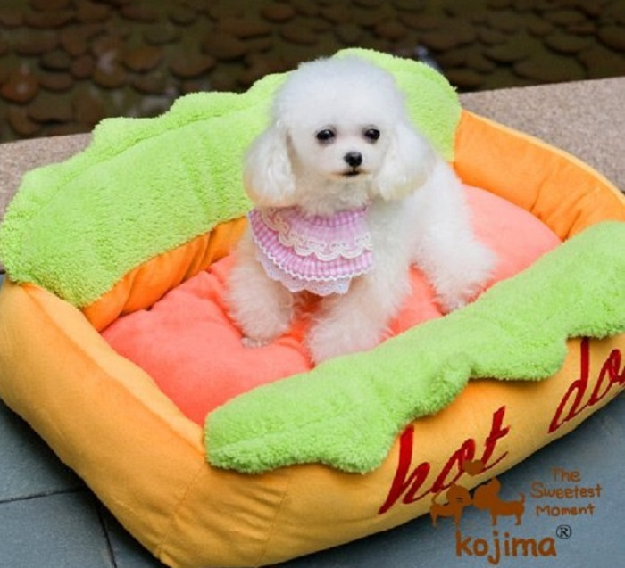 Hot Dog Shaped Sofa Pet Bed