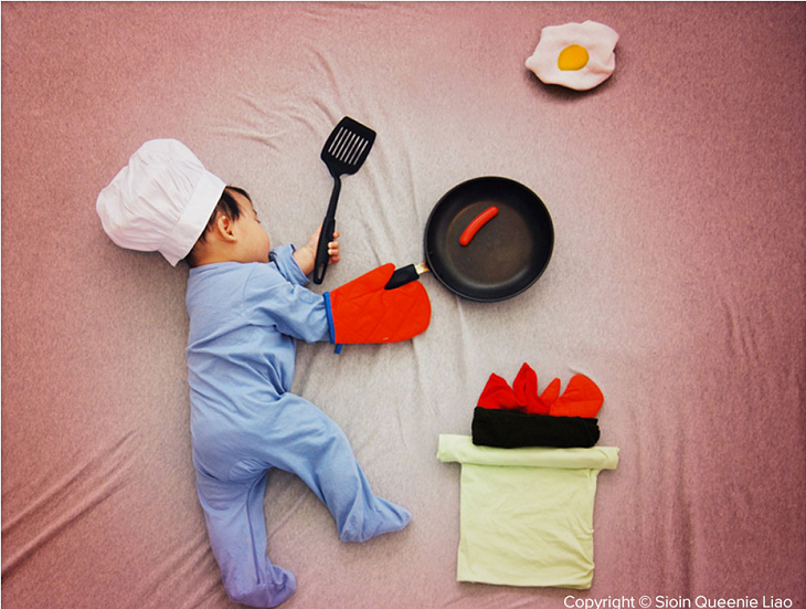 Little Cook Preparing  Breakfast