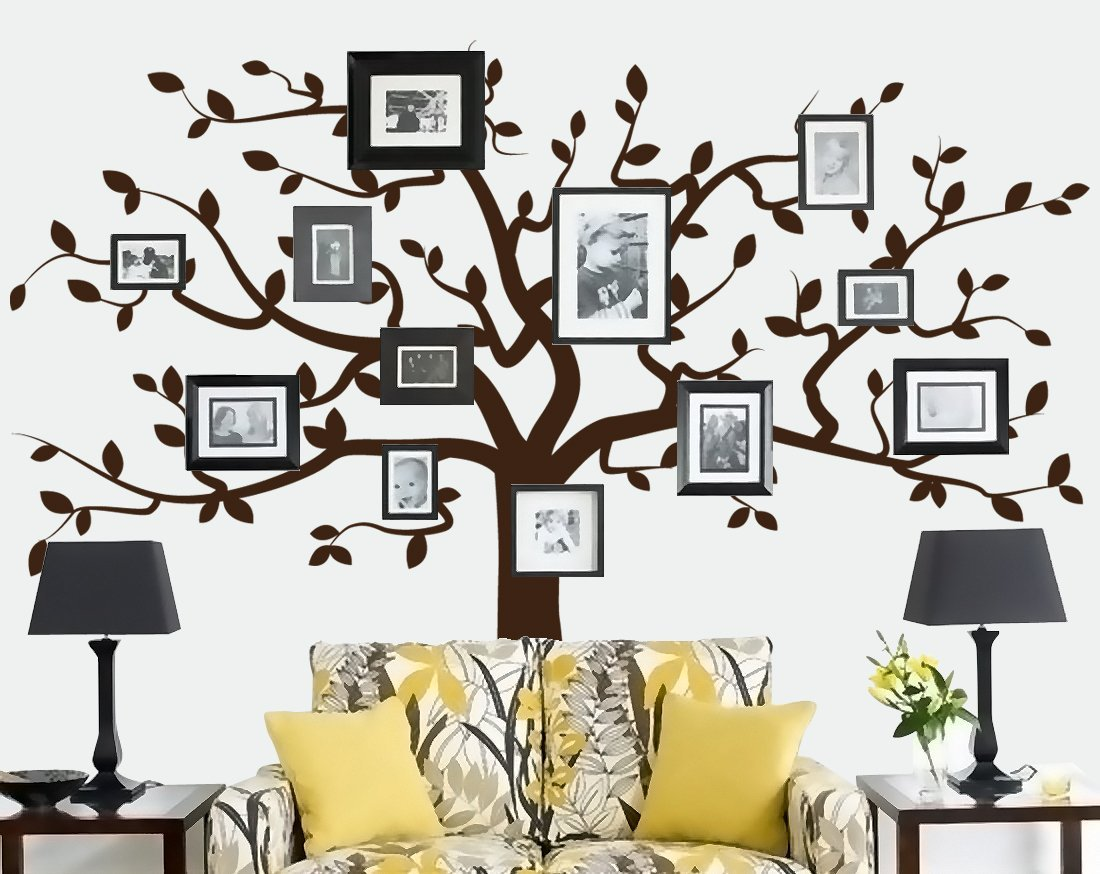 Beautiful family tree wall decal ideas home designing living room family tree wall decal amipublicfo Choice Image