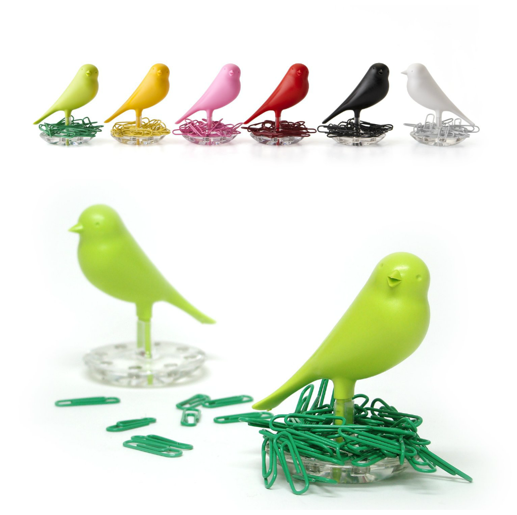 Nest Sparrow Paper Clip Holder