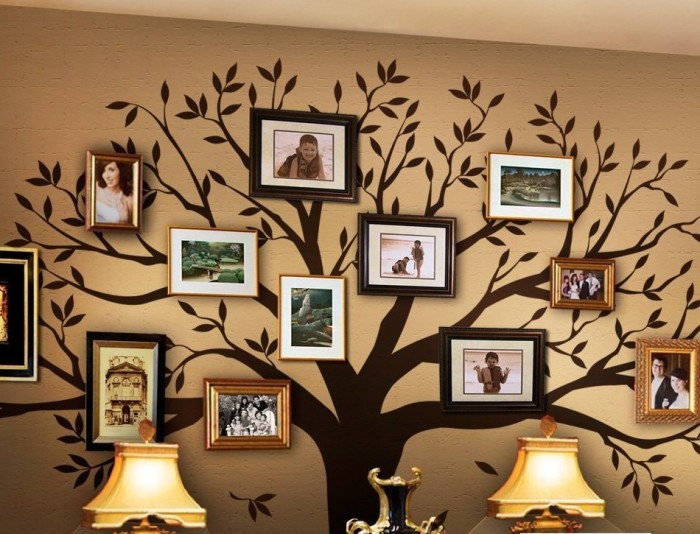simple shapes family tree wall decal - Simple Shapes Wall Design