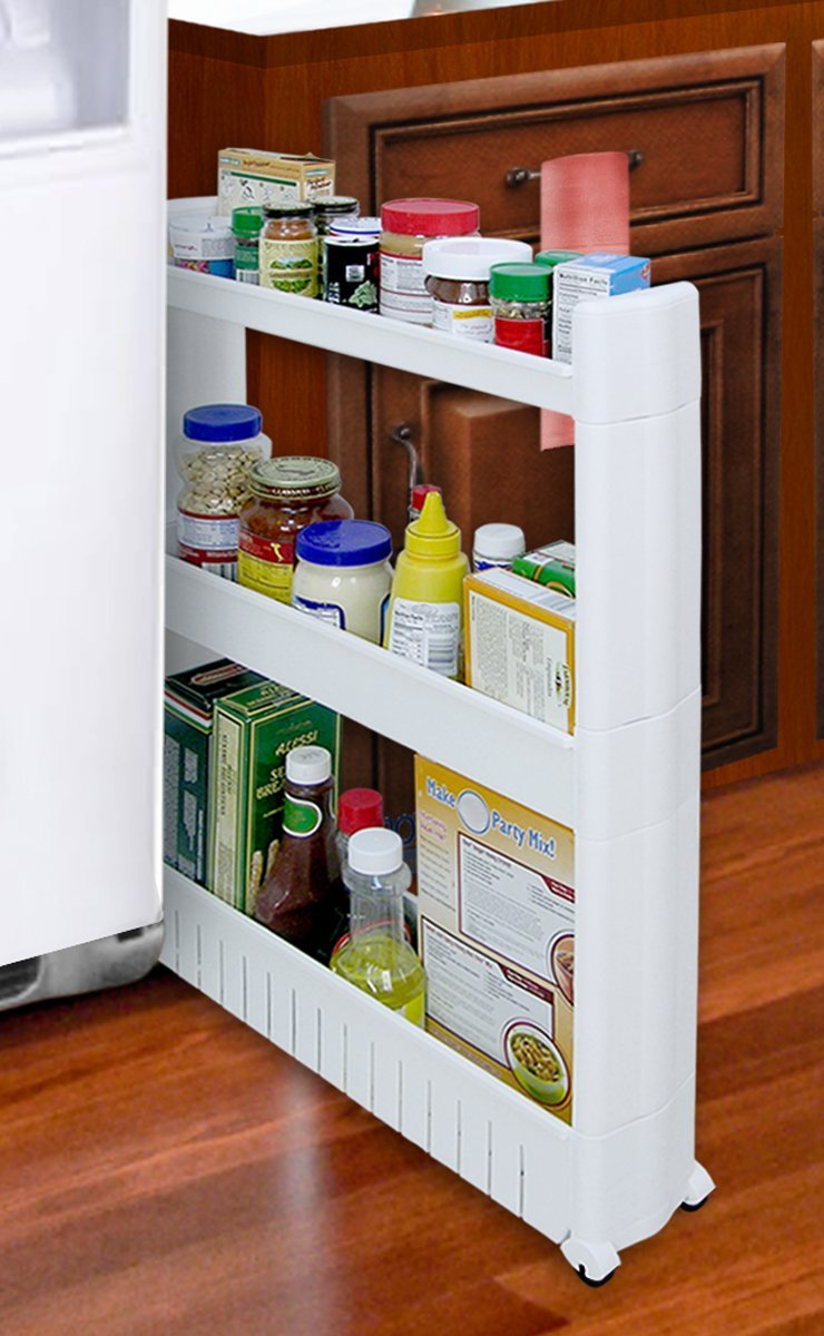 Slim Slide out Storage Tower for Kitchen