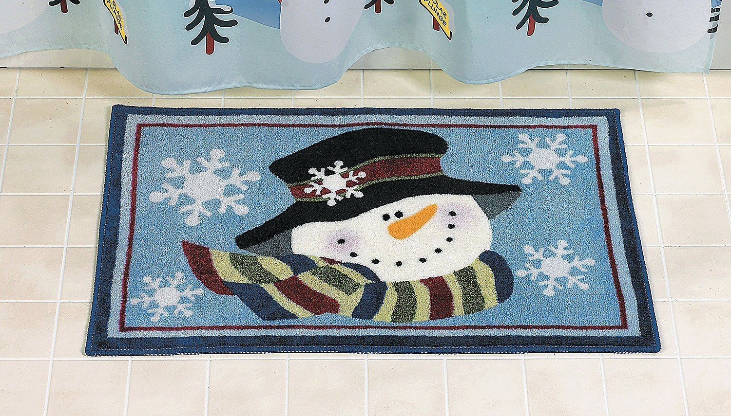 Snowman Bath Mat for Christmas