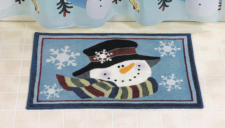 Snowman Bath Mat for Christmas