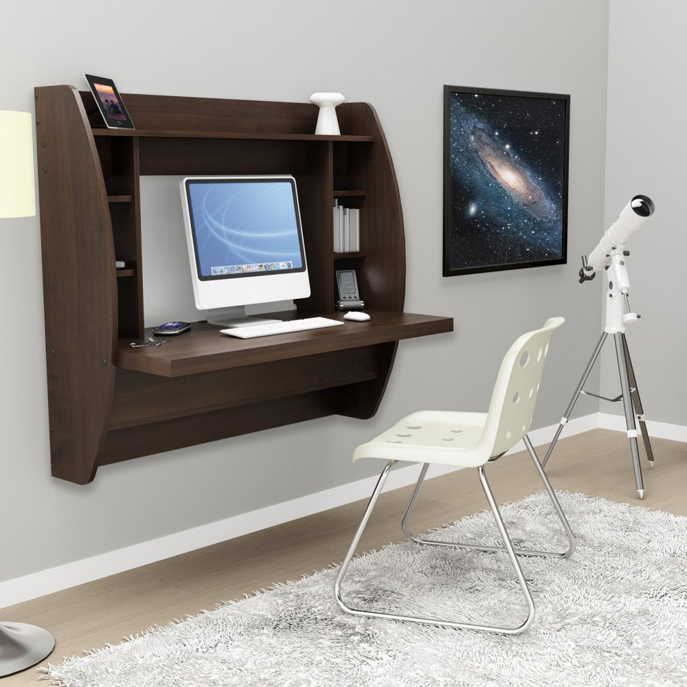 Wooden Floating Desk For Small Places