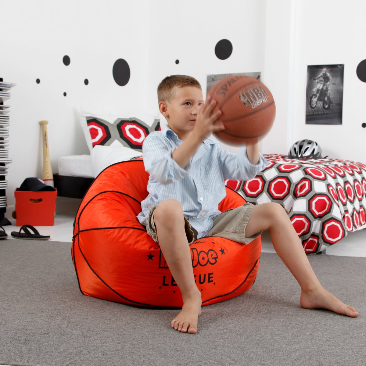Sporty Ball Shaped Bean Bags Home Designing