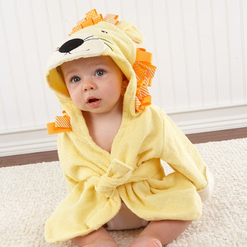 Bath Time Lion Hooded Baby Spa Robe