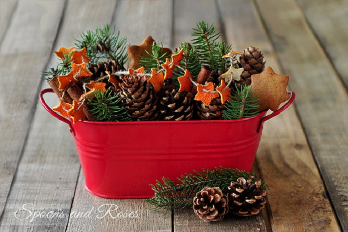 Beautiful Handmade Orange Peel Centerpiece
