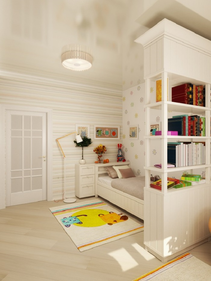 Bed and Book Shelf for Kids room
