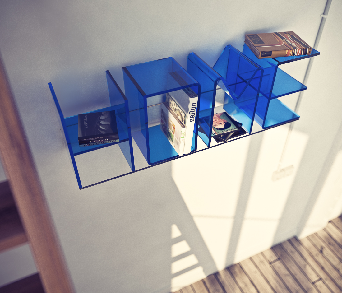 Blue Color Letter Shelf
