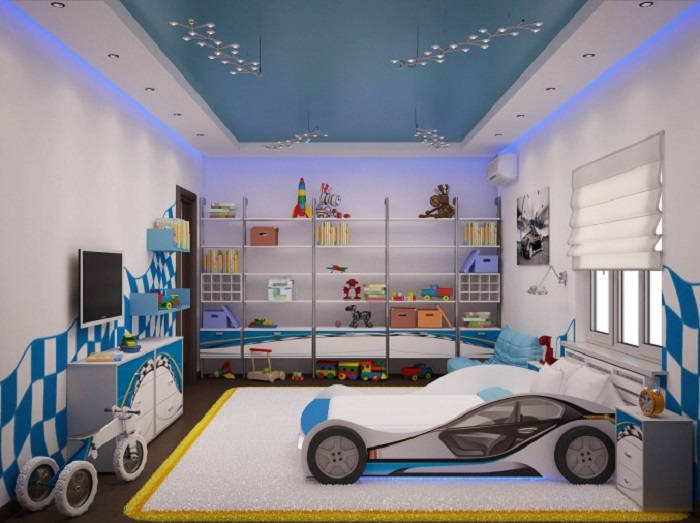 Car Themed Boy Kid Room Design