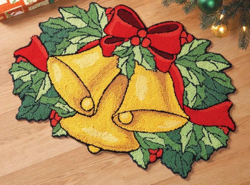 Christmas Bells Holiday Accent Rug