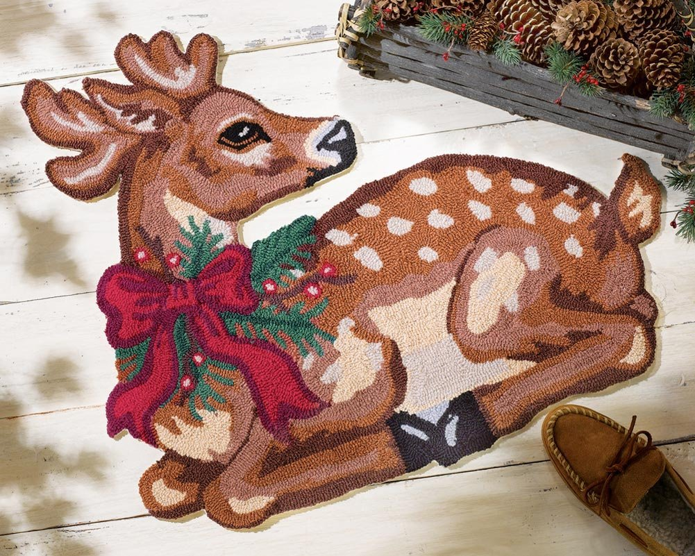 Christmas Reindeer Holiday Rug
