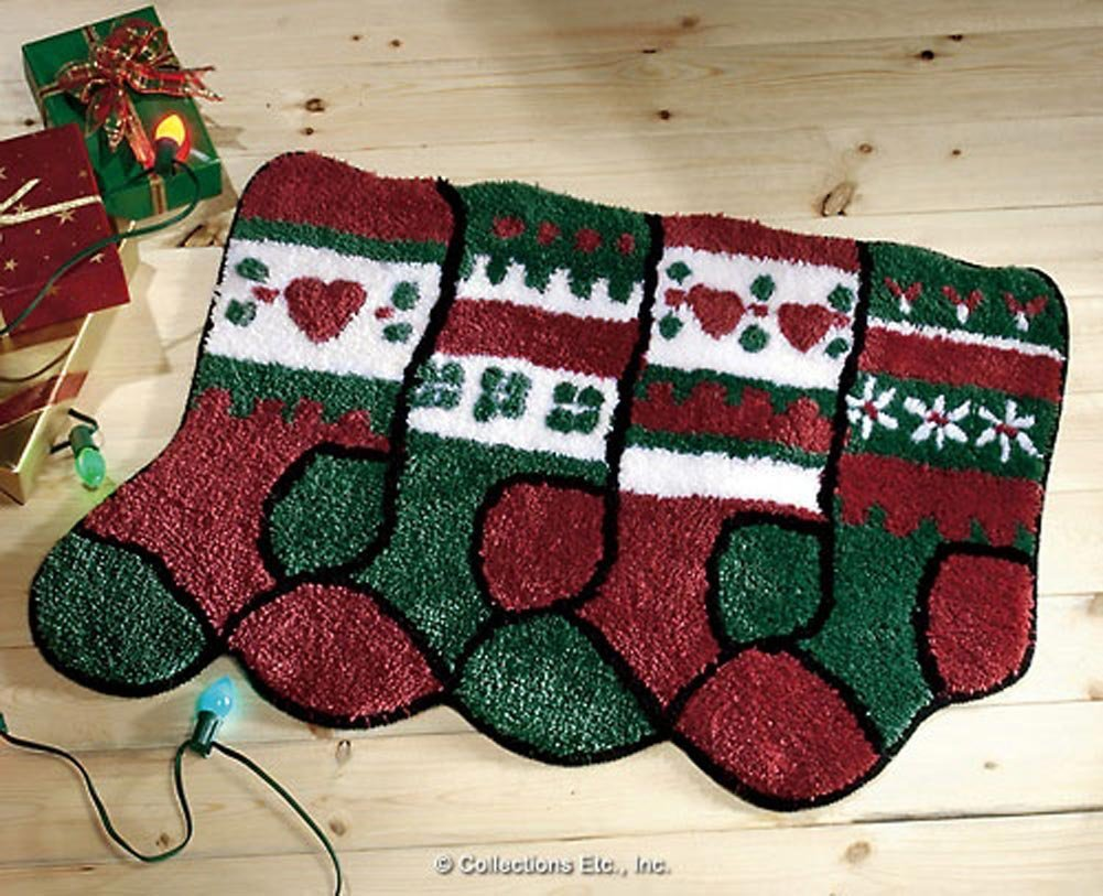 Christmas Stocking Holiday Rug