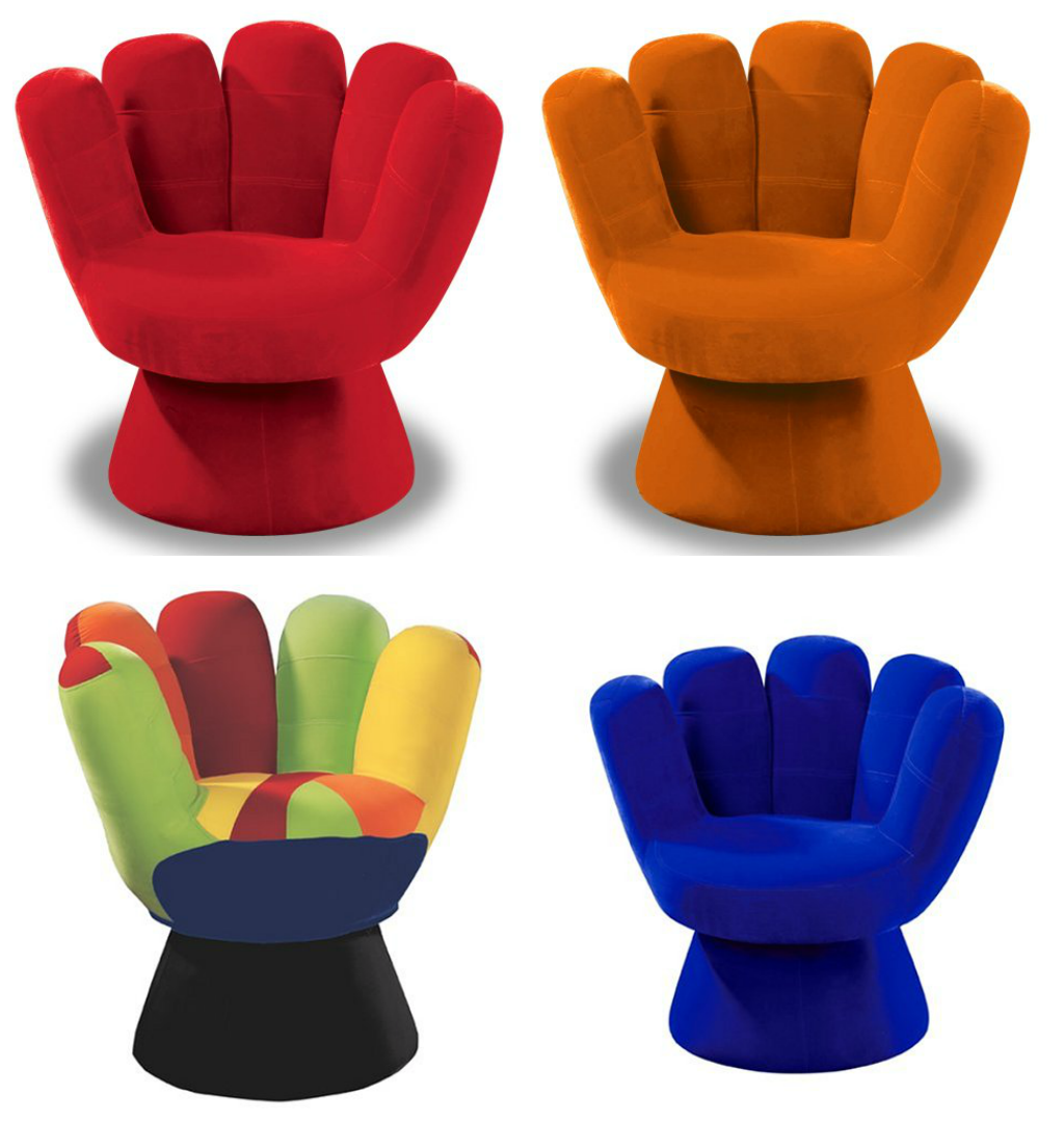 Colorful Mitt Chair Design