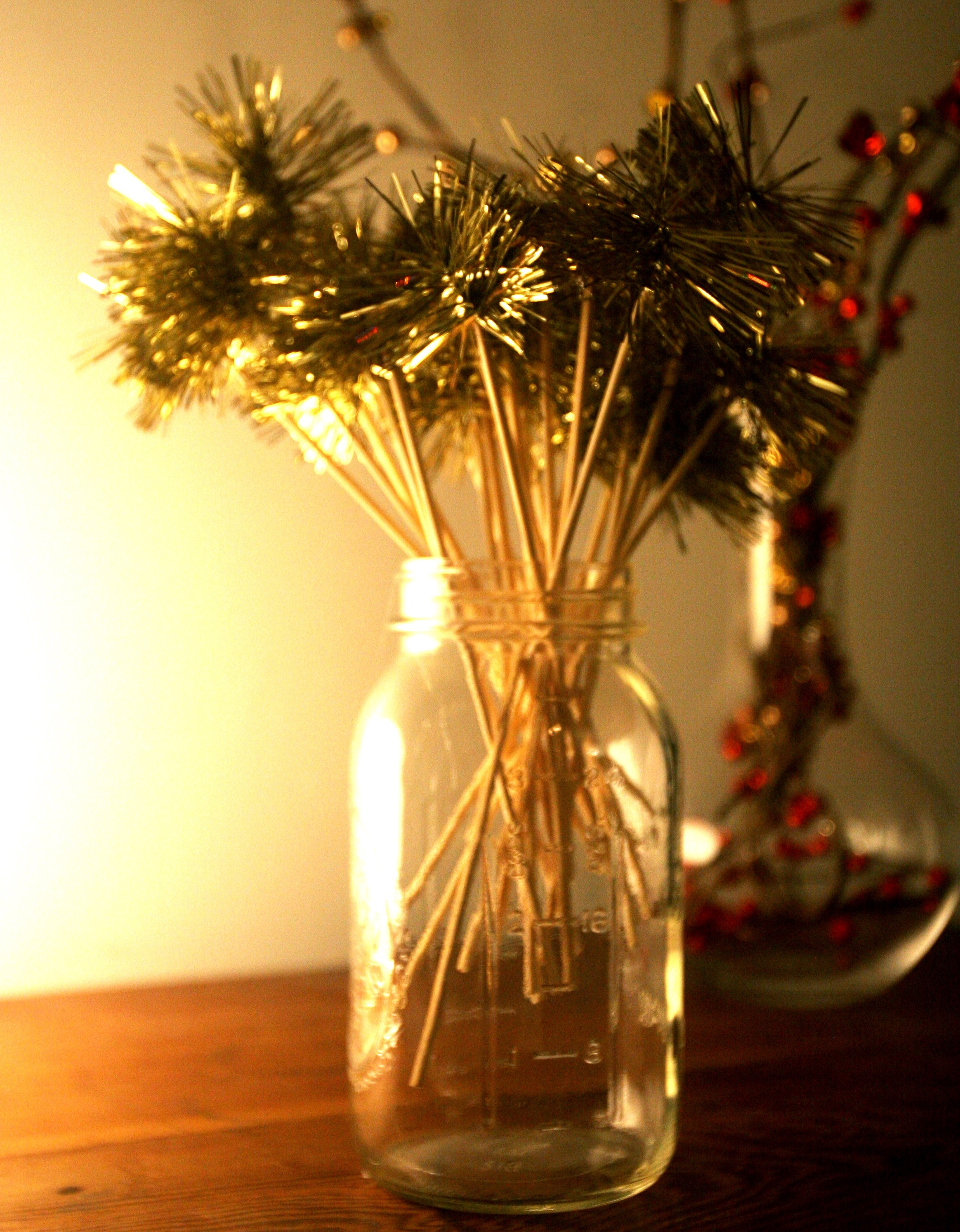 DIY Tinsel Drink  Stirrer