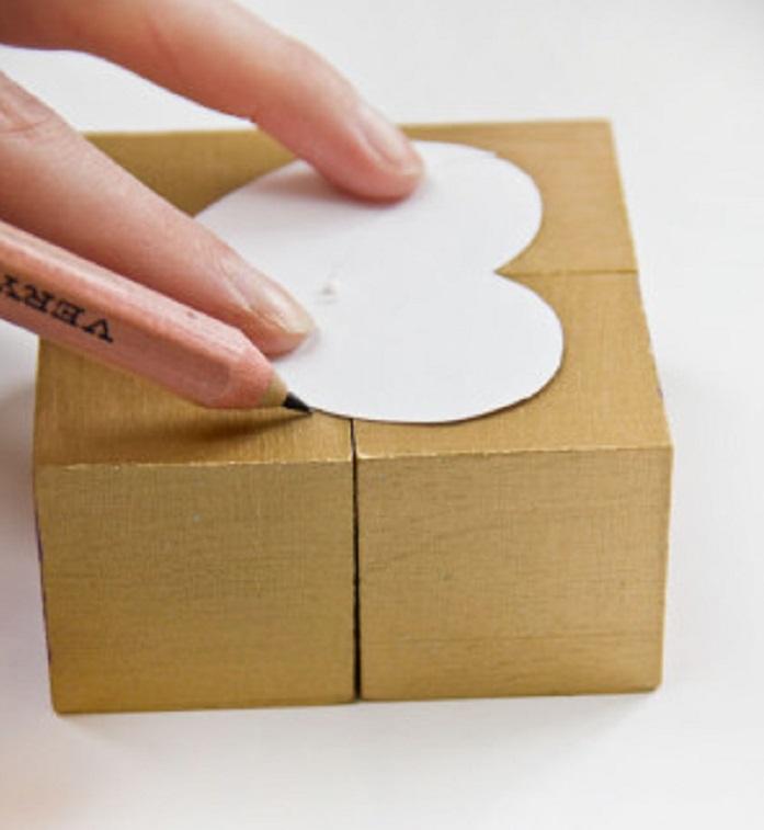DIY Valentines Block Puzzle