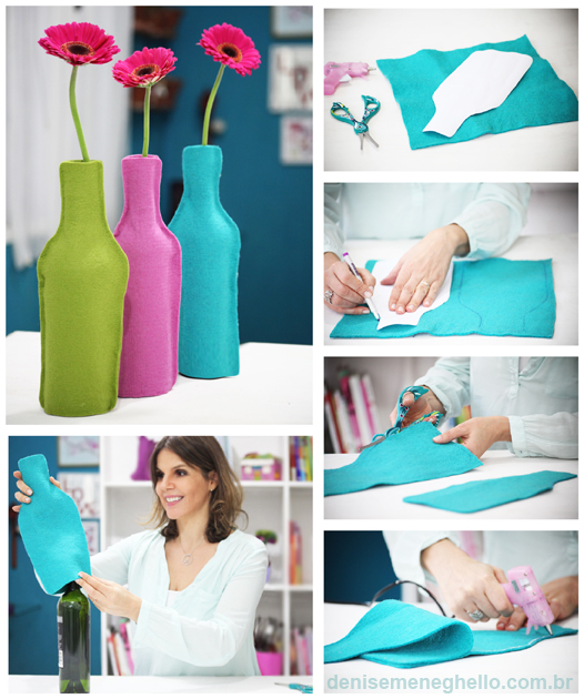 Easy to make Colorful Flower Vases