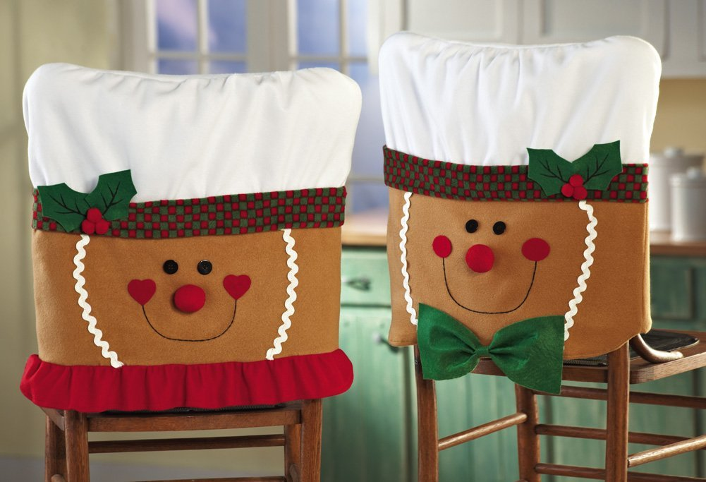 christmas holiday chair cover pattern | home designing