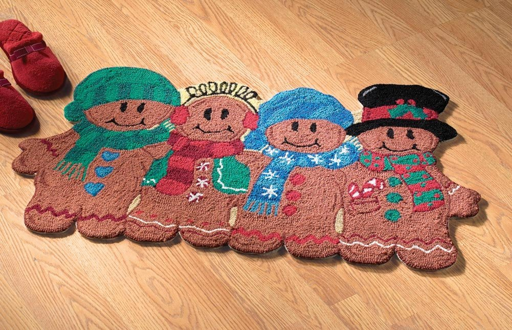 Gingerbread Pals Holiday Rug