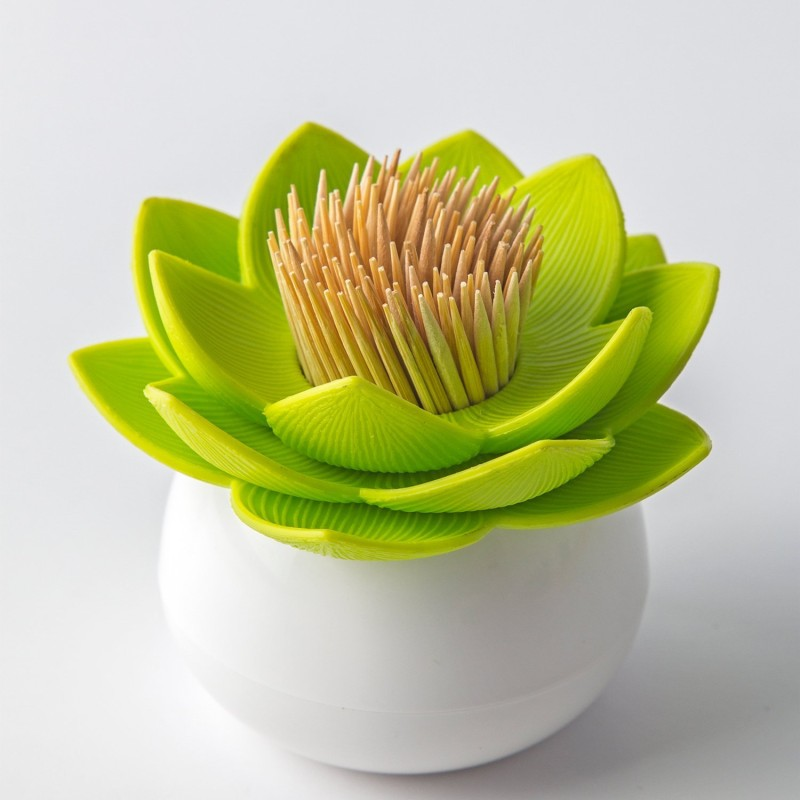 Green Lotus Toothpick Holder