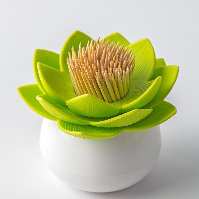 Green Lotus Toothpick Holder