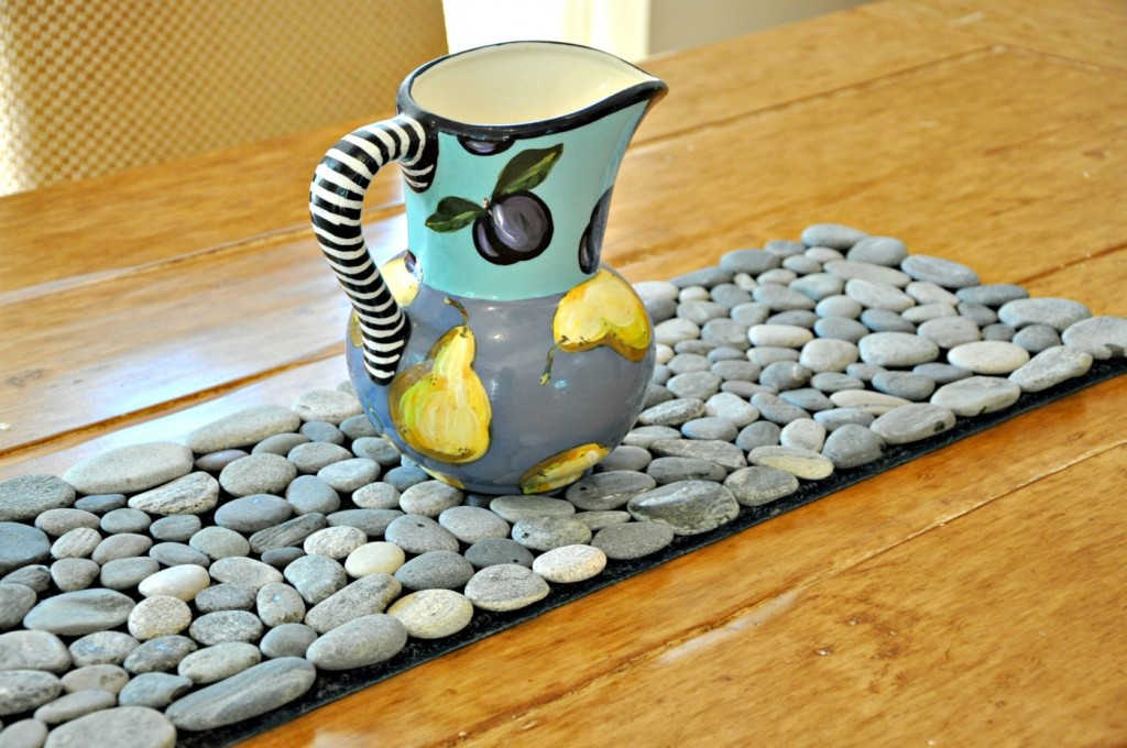 Grey Beach Stone Table Runner