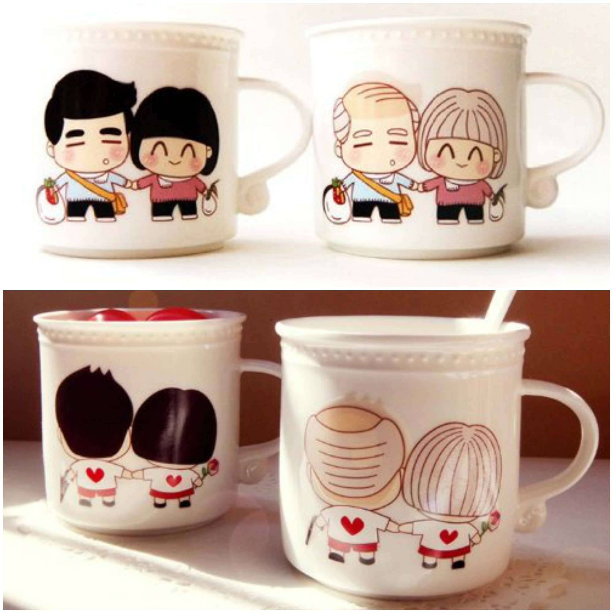 Growing old Together Romantic Coffee Mugs