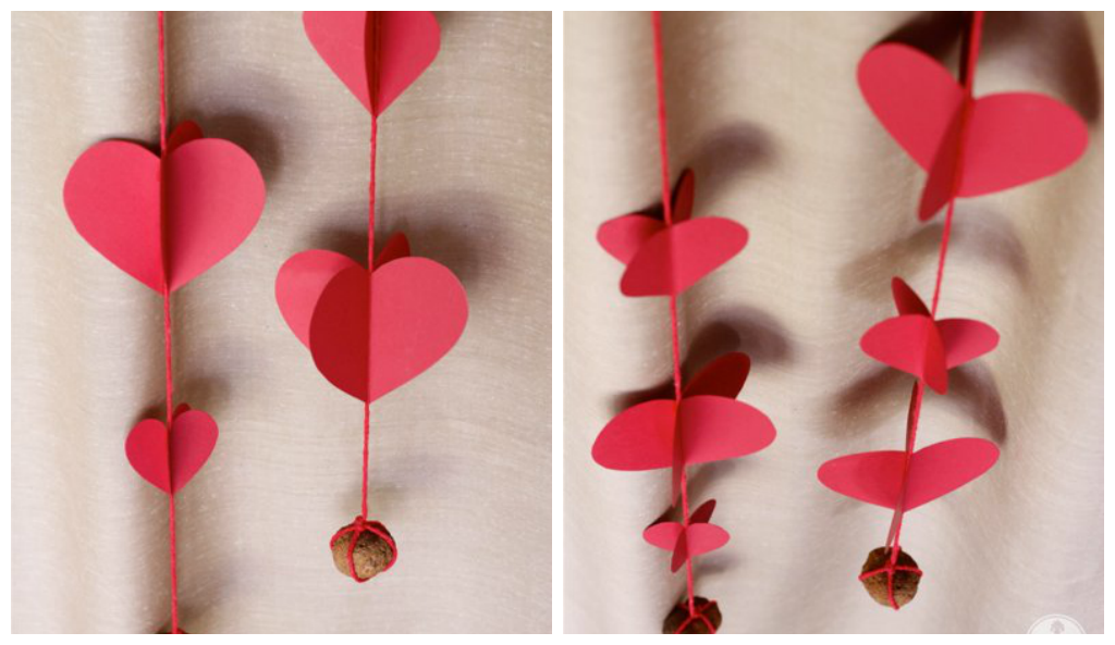 Handmade Heart Shaped Curtain