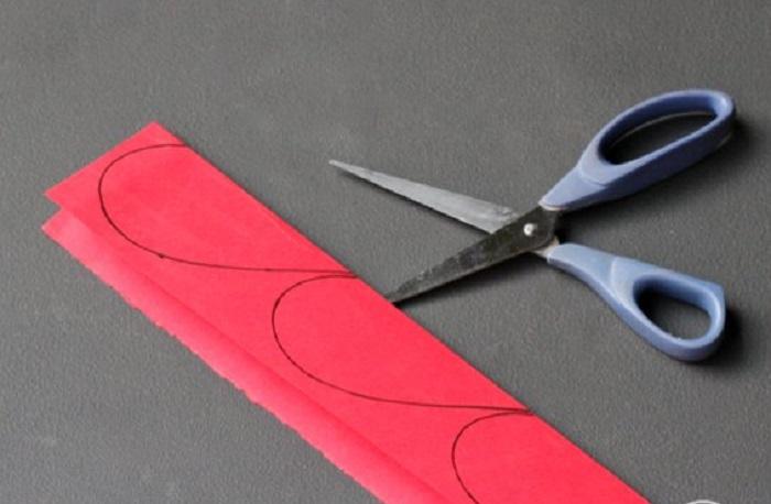 Handmade Paper Heart Curtain