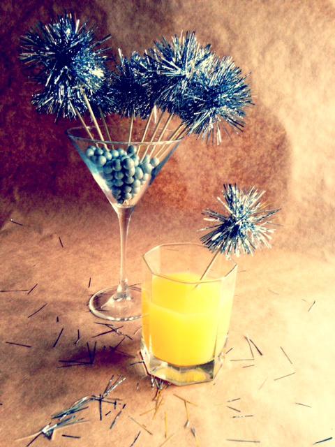 Handmade Tinsel Drink  Stirrer for Party