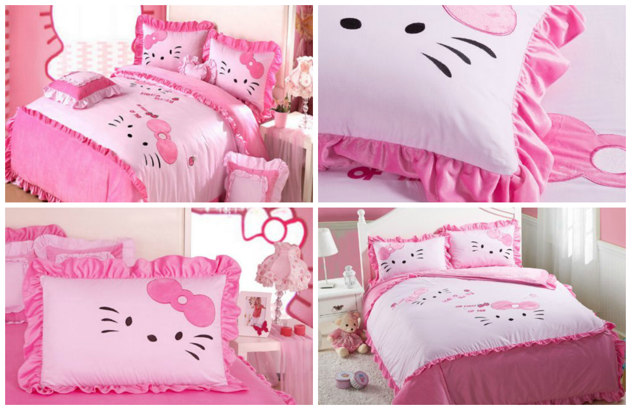 Pink hello kitty bedsheet - Hello Kitty Bedding For Kids