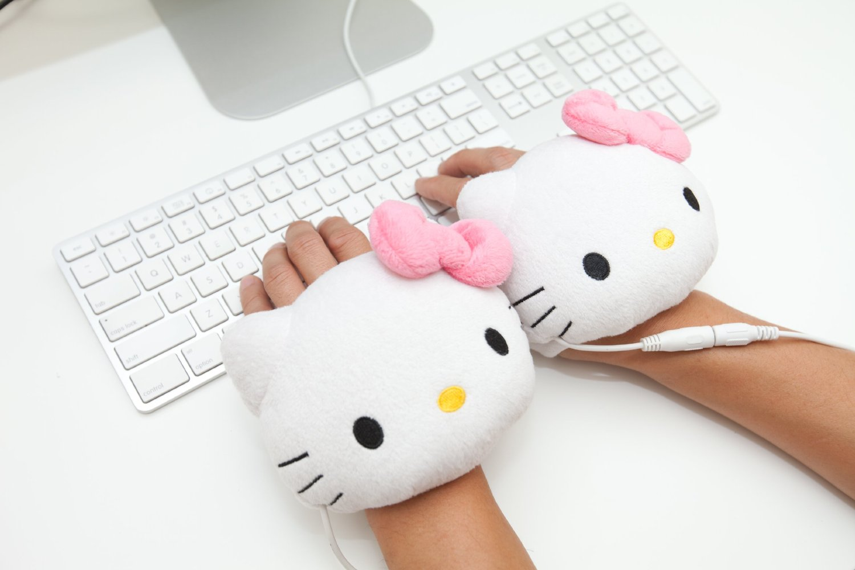 Hello Kitty USB Hand warmers Gloves