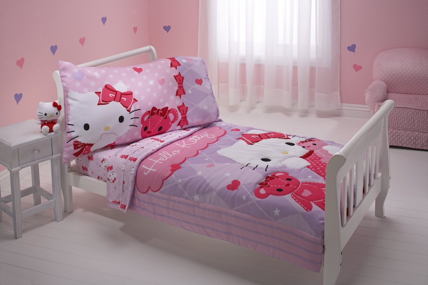 Pink hello kitty bedsheet - Hello Kitty And Friends Toddler Bedding Set