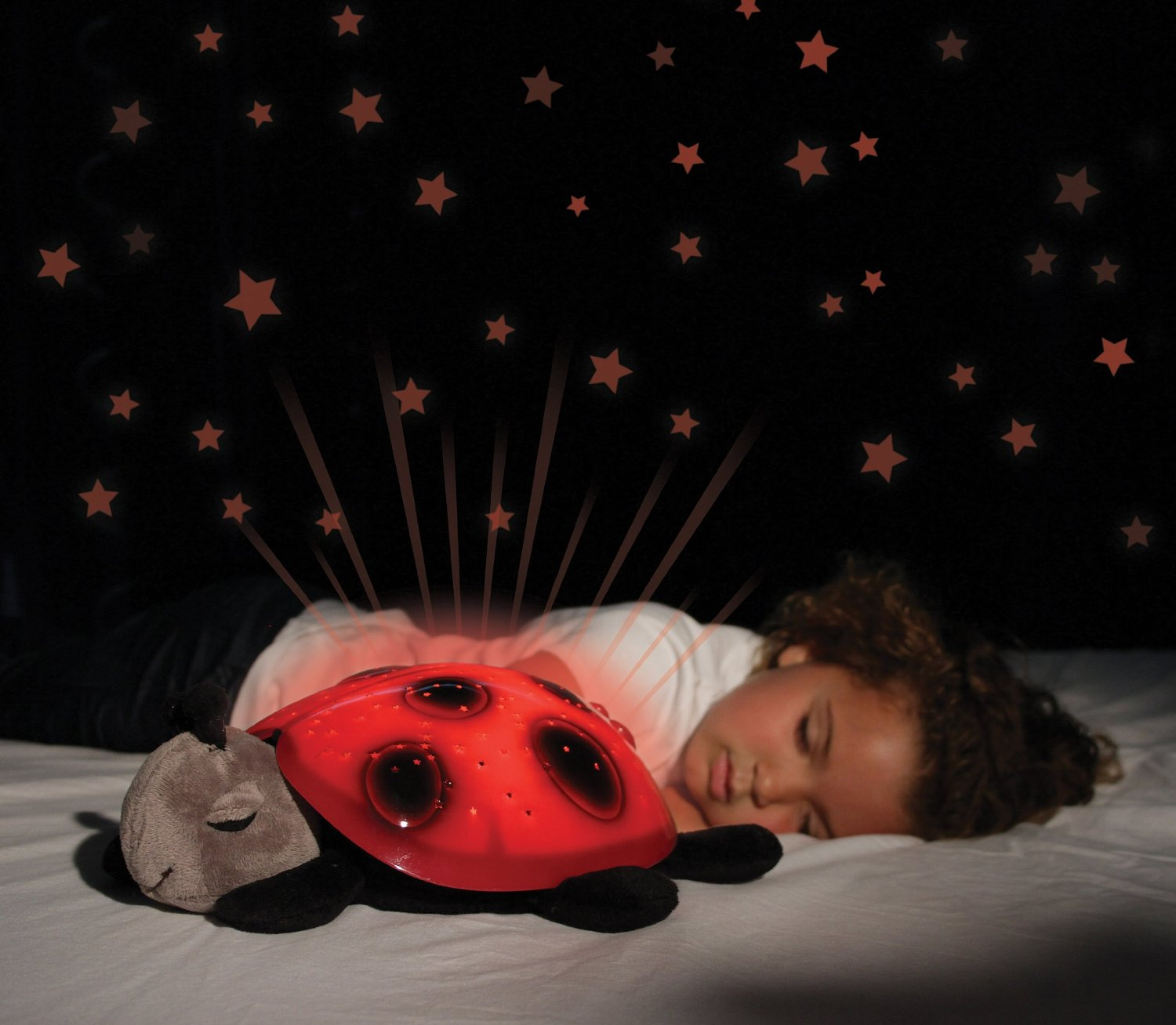 Lady Bug Night Lamp Projecting Stars