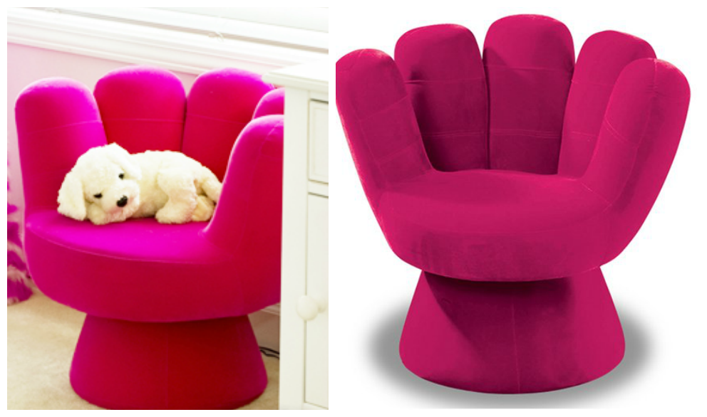 LumiSource Pink  Mitt Chair