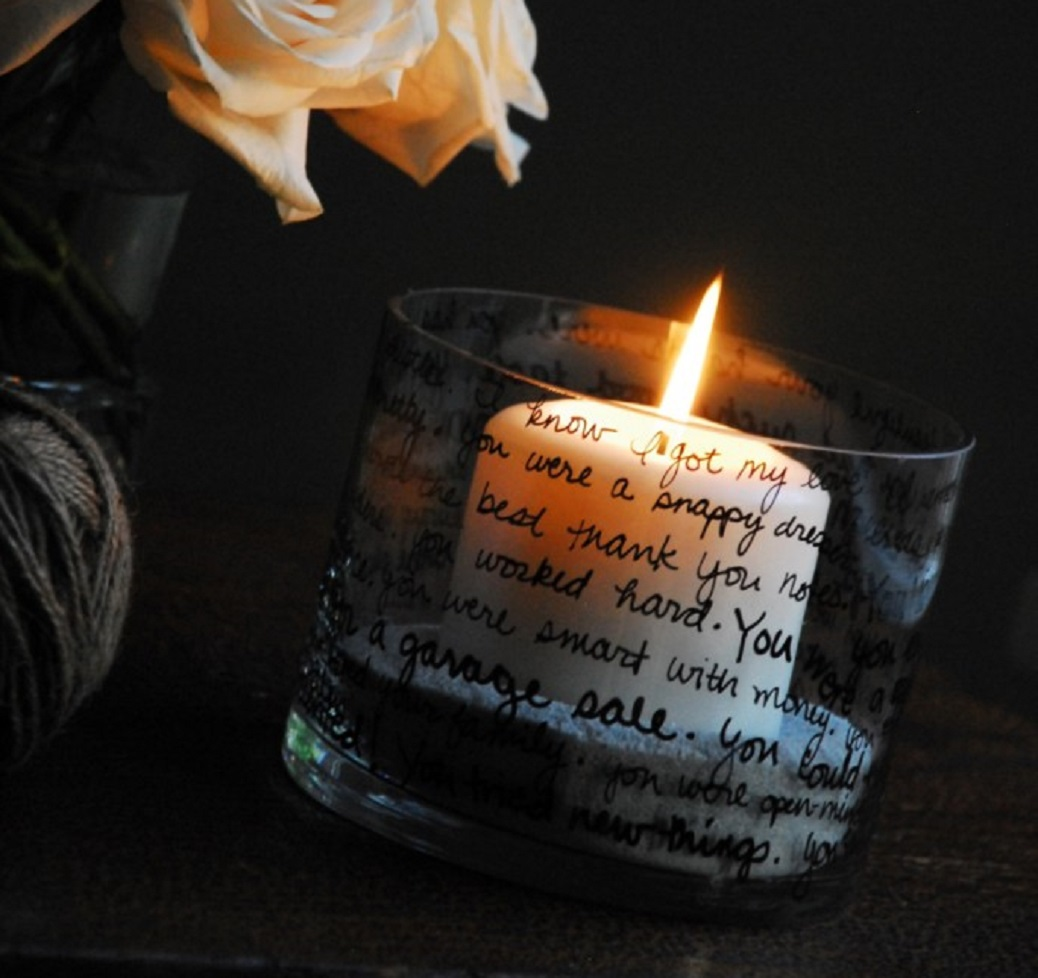 Decorate Memory Candle Holder