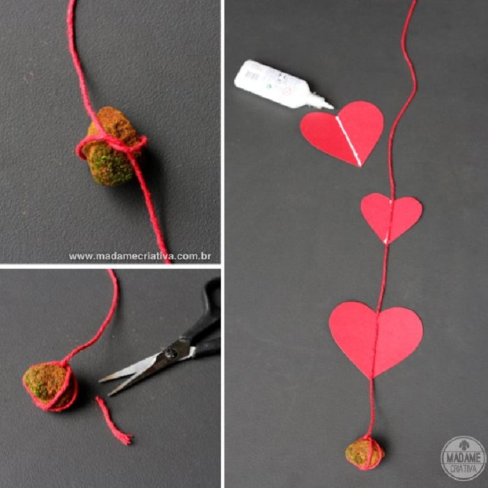 Making Heart Paper Curtain