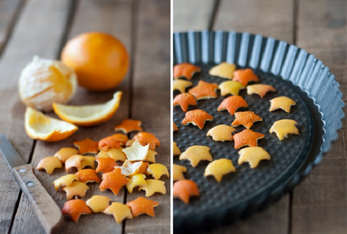 Making Star Shaped Orange Peel Garland