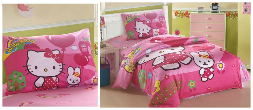 Pink Hello Kitty Bedding Set for Kids