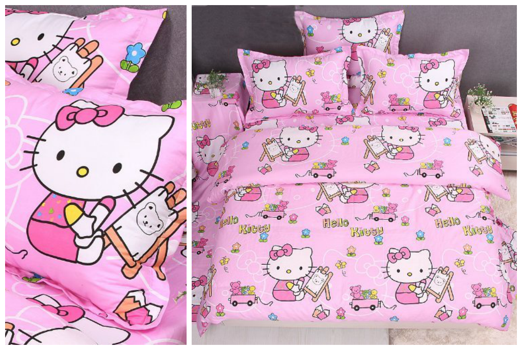 Pink Hello Kitty Bedding for Girls Room