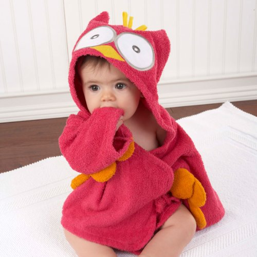 Pink Owl Super Soft Baby Robe with Hood