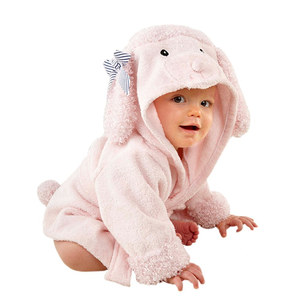 Pink Poodle Hooded Spa Robe