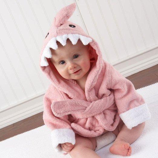 Pink Shark Baby Robe