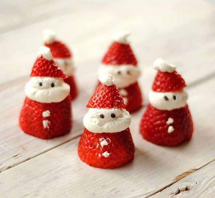 Quick Strawberry and Cream Santa Christmas Holiday Recipe