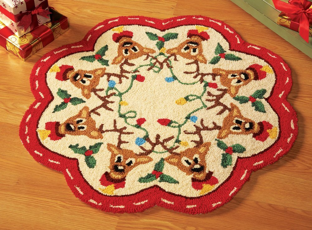 Reindeer Christmas Holiday Rug