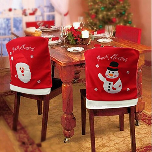 Santa Claus Snowman Christmas Chair Cover