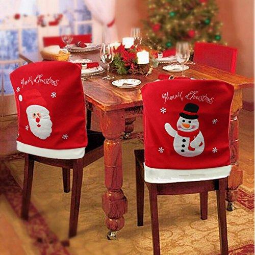 Santa Claus Snowman Christmas Chair Cover